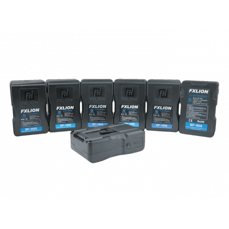 FXLION - COOL BLACK V‐mount li‐ion battery, 14.8V, 160Wh